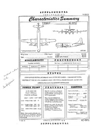 2837 KC-97G Stratofreighter Characteristics Summary (Supplemental) - 9 March 1956 (Yip)