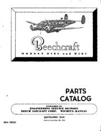 404-180151 Beechcraft Models D18S and D18C Parts Catalog