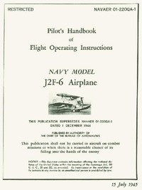NAVAER 01-220AQA-1 - Pilot's Handbook of flight Operating Instructions J2F-6 Airplane