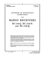 AN 08-10-112 Handbook of Maintenance Instructions for Radio Receivers BC-348J, -N and -Q