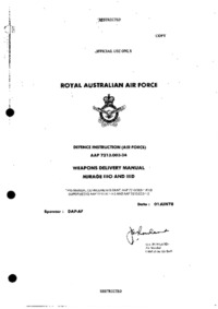 AAP 7213.003-34 Weapons delivery manual Mirage IIIO and IIID