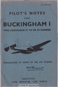 A.P. 2100A Pilot's Notes for Buckingham I