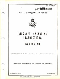 EO 05-25DA-1 Aircraft Operating Instructions CF-100 MK3D