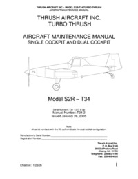 4286 Turbo Trush - Aircraft Maintenance Manual Model S2R - T34