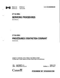 C-12-133-000/MM-001 CT133 Mk3 Servicing procedures
