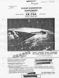 T.O. 1B-70(X)A-1A Flight Handbook Supplement XB-70A