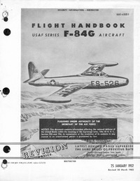 AN 01-65BJE-1 Flight Handbook F-84G USAF Series