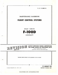 T.O. 1F-100D-2-5 Maintenance Handbook Flight Control Systems F-100D