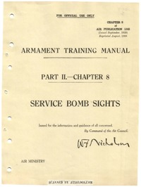 A.P. 1243 Armament training manual - Service Bomb Sights
