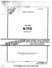 AN 01-20EG-4 Parts Catalog B-17G Aircraft