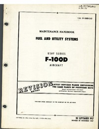 T.O. 1F-100D-2-2 Maintenance Handbook Fuel and Utility Systems F-100D