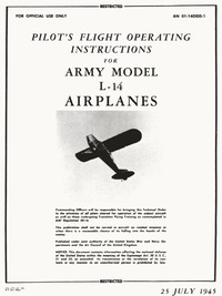 AN 01-140DD-1 Pilot's Flight Operating Instructions for Army Model L-14 Airplanes