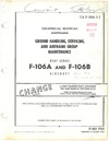 T.O. 1F-106A-2-2 Technical Manual Ground Handling, Servicing, and Airframe Group maintenance F-106A and F-106B