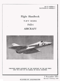 AN 01-40FBA-1 Flight Handbook F4D-1 Skyray Aircraft