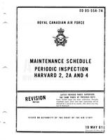 EO 05-55A-7A RCAF Maintenance Schedule Periodic Inspection Harvard 2, 2A and 4 - 19 May 61 - Revised 29 May 64