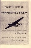 A.P. 4099 E&G Pilot's Notes for Vampire F.B.5 & F.B.9