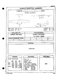 3417 UF-2 Albatross Characteristics Summary - 2 June 1958