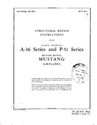 AN 01-60-3 Structural Repair Instructions for A-36 Series and P-51 series