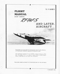 T.O. 1F-84(R)F-1 Flight Manual RF-84F-5 and later aircraft