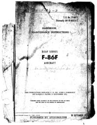 T.O. 1F-86F-2 Handbook of Maintenance Instructions F-86F Aircraft