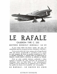 Brochure Caudron C.530 Rafale