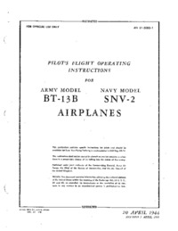 AN 01-50BD-1 Pilot's Flight Operating Instructions for BT-13B and SNV-2