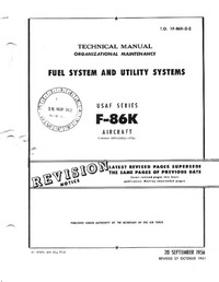 T.O. 1F-86K-2-2 Technical Manual - Fuel system and Utility systems F-86K