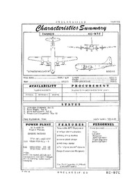 2833 KC-97E Stratofreighter Characteristics Summary - 9 March 1956 (Yip)