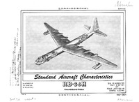 RB-36H Peacemaker Standard Aircraft Characteristics - 1 March 1954