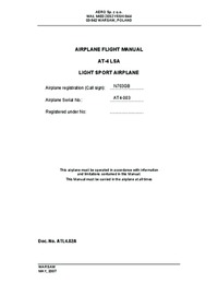 2291 Airplane Flight Manual Aero SP AT-4 LSA
