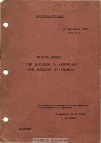 A.P. 1530B Pilot's Notes The Blenheim IV