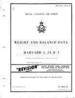 EO 05-55A-8 RCAF Weight and Balance Data Harvard 2, 2A and 4 - 15Apr53 - Revised 20 mar 57