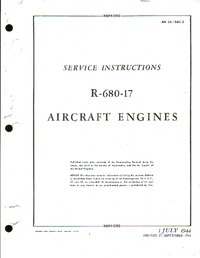 AN 02-15AC-2 Service Instructions R-680-17 Aircraft Engines