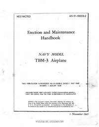 AN 01-190EB-2 Erection and Maintenance Handbook TBM-3 Airplane