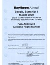 2625 Beech Starship 1 Model 2000 Airplane Flight Manual