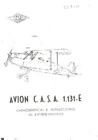 Avion C.A.S.A. 1.131-E Caracteristicas E Instrucciones de Entretenimiento