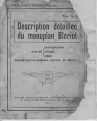 Description détaillée du monoplan Blériot