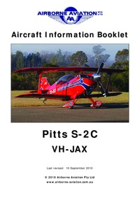 Aircraft Information Booklet Pitts S-2C