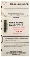 TM 55-1510-213-CL Operator's and Crewmember's Checklist OV-1D/RV-1D
