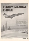 T.O. 1F-F104D-1 Flight Manual F-104D