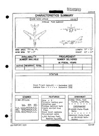 3164 A3D-1P Skywarrior Characteristics Summary - 21 February 1956