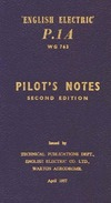 English Electric P.1A WG763 Pilot's Notes - Second Edition