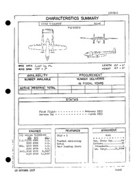 R4Q-2 Packet Characteristics Summary - 10 October 1957