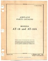 T.O. 01-75KA-4 Airplane Parts Catalog Models AT-18 and AT-18A