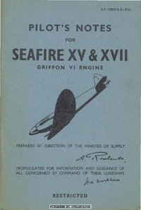 A.P. 2280D&E Pilot's Notes for Seafire XV & XVII