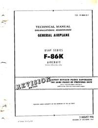 T.O. 1F-86K-2-1 Technical Manual - General Airplane - F86K