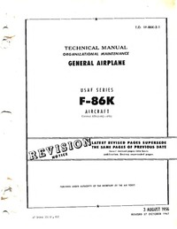 T.O. 1F-86K-2-1 Technical Manual - General Airplane - F86K