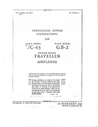 AN 01-90CC-3 Structural repair instructions for UC-43, GB-2, Traveller