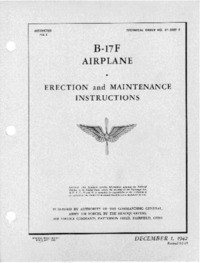 T.O. 01-20EF-2 B-17F Airplane - Erection and Maintenance Instructions