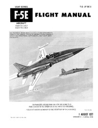 T.O. 1F-5E-1 F-5E Flight Manual